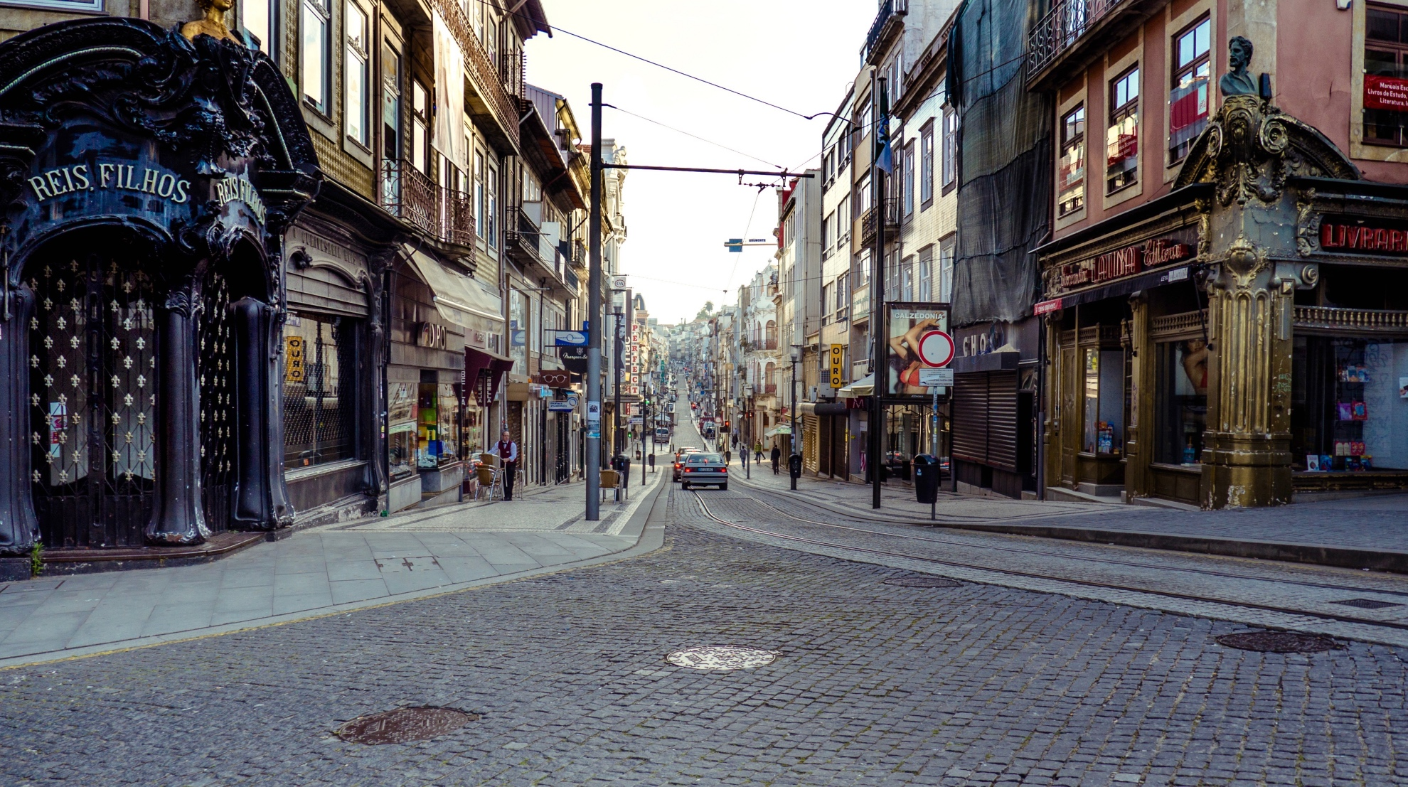 Shopping Street in Porto