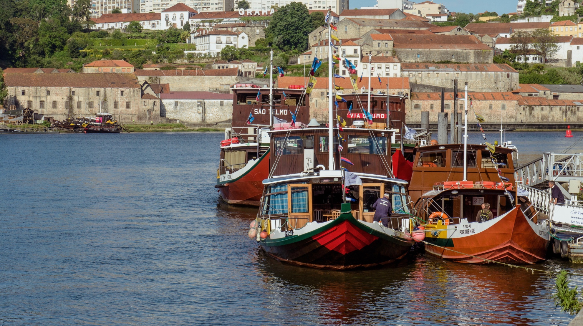 typical boats along the douro river