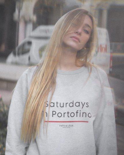 Unisex Sweatshirt Portofino hellgrau