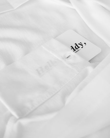 Buddy Pocket – White T-Shirt