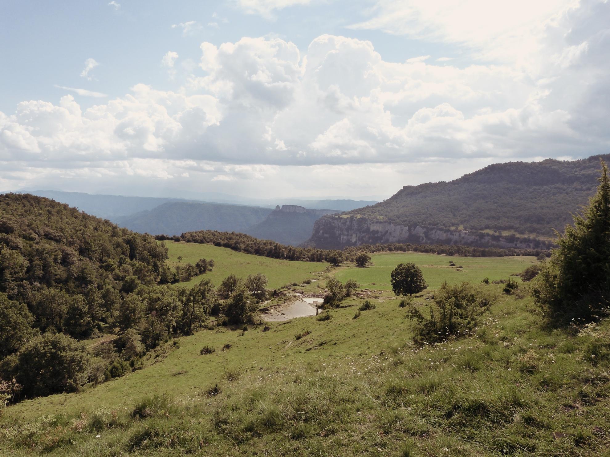 Landschaftsbild im Norden Kataloniens